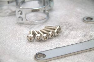 brackets, screws and clamps
